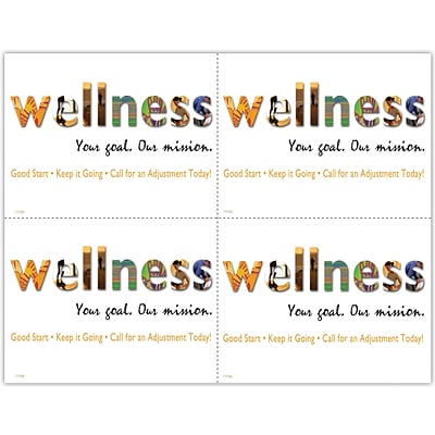 Chiropractic Laser Postcards; Wellness