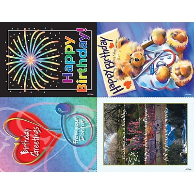 Scenic Assorted Laser Postcards; Birthday Greetings