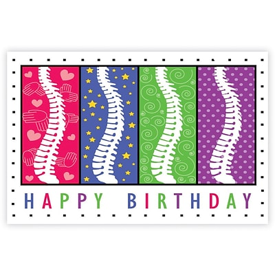 Chiropractic Laser Postcards, Birthday Spines