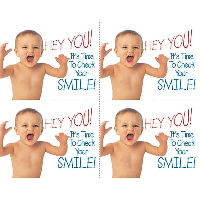 Medical Arts Press® Dental Laser Postcards, Hey You! Smile Baby
