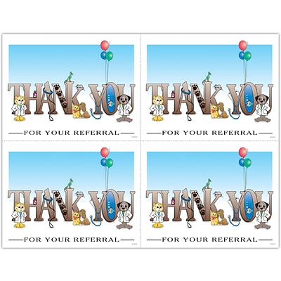Graphic Image Laser Postcards,  Thank You For Your Referral