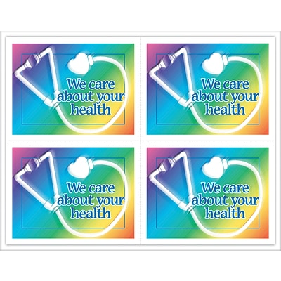 Medical Laser Postcards; Stethoscope