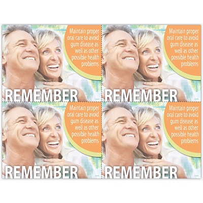 Photo Image Laser Postcards, Oral Care, Avoid Gum Disease