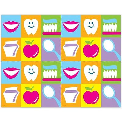 Graphic Image Laser Postcards, Smile, Toothbrush Grid
