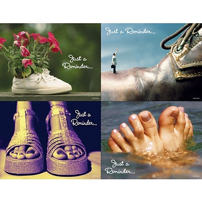 Podiatry Assorted Laser Postcards; Shoes