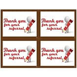 Graphic Image Laser Postcards, Clay Guy, Thank You Referral