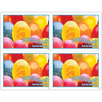 Photo Image Laser Postcards, Birthday Balloons with Spines