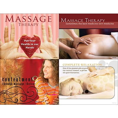 Chiropractic Assorted Laser Postcards, Contentment Through Massage