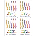 Graphic Image Laser Postcards, Colorful Spines Birthday