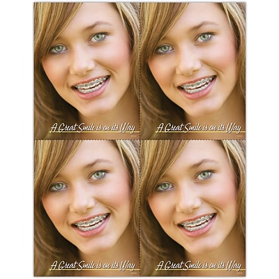 Orthodontia Laser Postcards, Great Smile