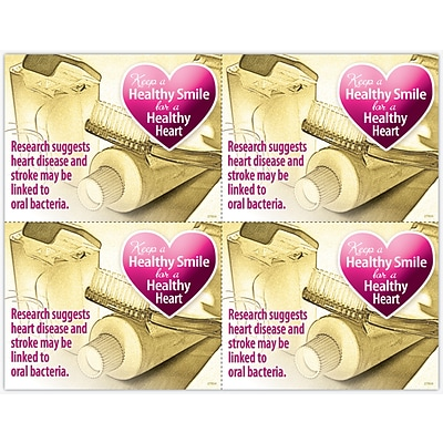 Graphic Image Laser Postcards, Healthy Smile, Healthy Heart