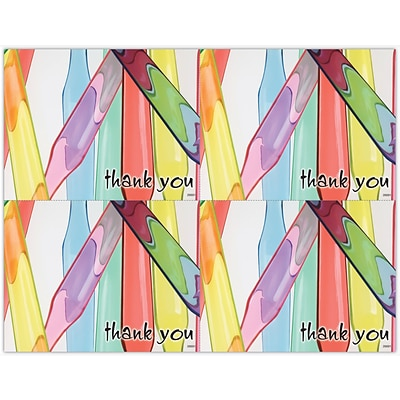 Graphic Image Laser Postcards, Thank You, Brush Handles