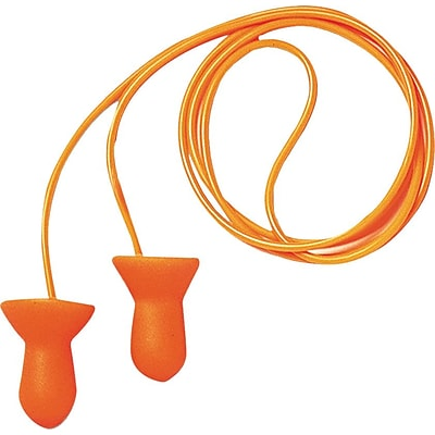 Howard Leight® Quiet® Corded Reusable Earplugs, Orange, 26 dB, 100/BX