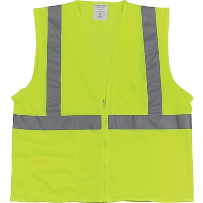 PIP® 2-Pocket Safety Vest, Yellow, Large