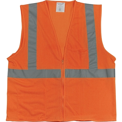 PIP® 2-Pocket Safety Vest, Orange, Large