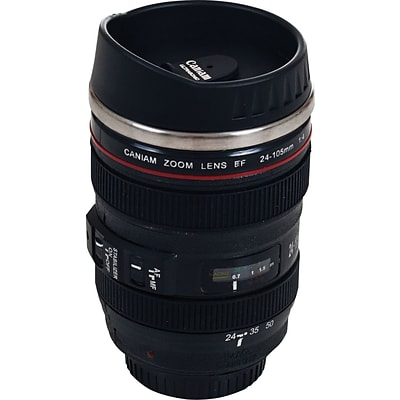 Whetstone 12 oz. Camera Lens Coffee Mug with Lid