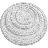 InterDesign® Spa 24 Round Microfiber Polyester Bath Rug, White