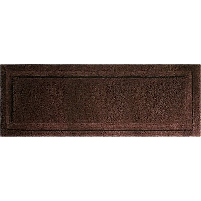 InterDesign® Spa 60 x 21 Microfiber Polyester Bath Rug, Chocolate