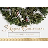 Glittering Wreath Cards w/Self-Seal Envelopes