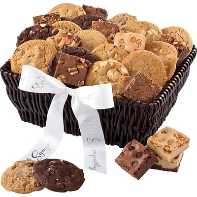 Mrs. Fields® 24 Cookies & 72 Brownie Bites Sympathy Basket
