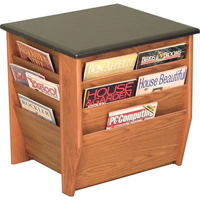 Wooden Mallets® Dakota Wave Series Table; End Table w/Magazine Pockets