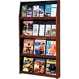 24-Pocket Mahogany Literature Display