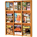 9-Magazine/18 Brochure Mahogany Literature Rack