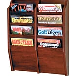 8-Pkt, Mahogany, Wall-Mounted Rack