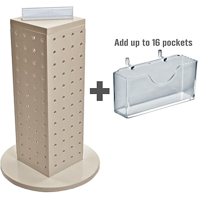 Azar Displays 13H x 4W x 4D Pegboard Counter Gift Card Holder Almond