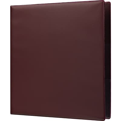 Staples Heavy-Duty 1.5-Inch D 3-Ring Non-View Binder, Maroon (26294)