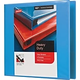 1-1/2 Staples® Heavy-Duty View Binder with D-Rings, Light Blue