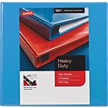 1/2 Staples® Heavy-Duty View Binder with D-Rings, Light Blue