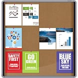 Quartet® Enclosed Cork Bulletin Board for Indoor Use, 38 x 39, Sliding Door