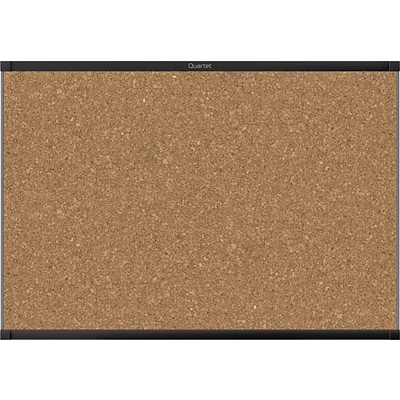 Quartet® Prestige® 2 Magnetic Cork Bulletin Board, 3 x 2, Black Finish