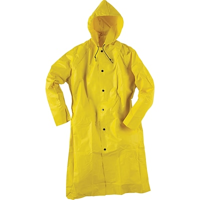 Neese® Raincoat With Attached Hood, Yellow, Medium