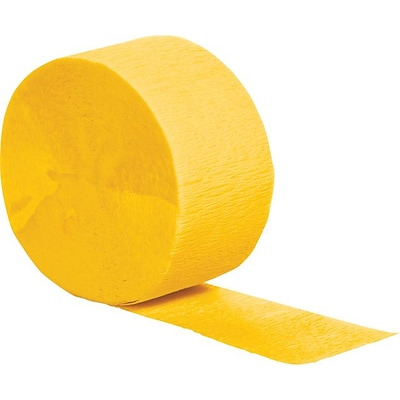 Creative Converting School Bus Yellow Crepe Streamers
