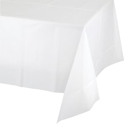 Creative Converting White 54 x 108 Rectangular Tablecover