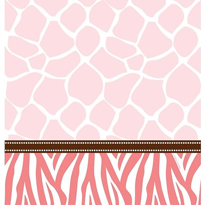 Creative Converting Wild Safari Pink Rectangular Tablecover