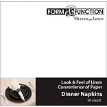Creative Converting White Dinner Napkins, 50/Pack