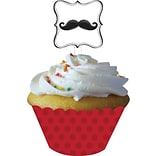 Creative Converting 4W x 11.5H Mustache Madness Cupcake Wrappers with Picks