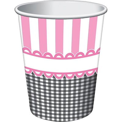 Creative Converting Sweet Baby Feet Pink Hot/Cold Drink Cups, 8/Pack