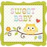 Creative Converting Happi Tree Sweet Baby Girl 3-Ply Beverage Napkins, 16/Pack