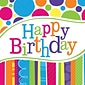 Creative Converting Bright and Bold Happy Birthday 2-Ply Luncheon Napkins, 18/Pack