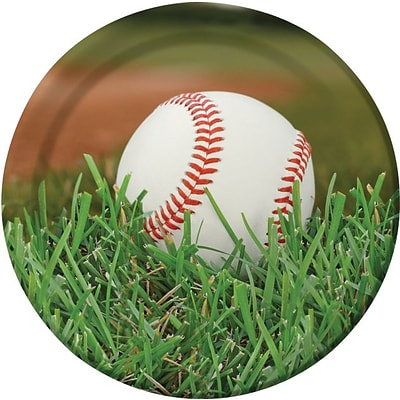 Creative Converting Baseball 9 Round Dinner Plates, 8/Pack