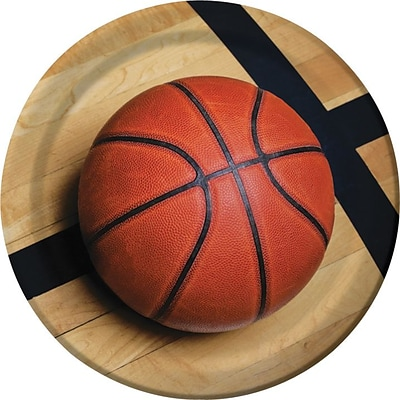 Creative Converting Basketball 9 Round Dinner Plates, 8/Pack