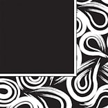 Creative Converting Black Velvet Swirl 3-Ply Luncheon Napkins, 16/Pack