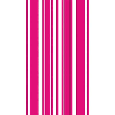 Creative Converting Hot Magenta Stripe 3-Ply Guest Napkins, 16/Pack