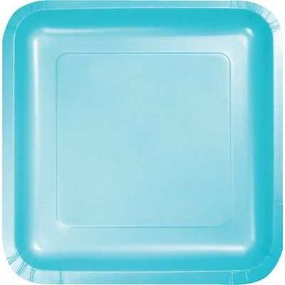 Creative Converting Pastel Blue 7 Square Luncheon Plates, 18/Pack