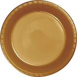 Creative Converting Glittering Gold 10 Round Banquet Plates, 20/Pack