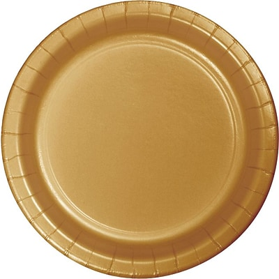 Creative Converting Glittering Gold 9 Round Dinner Plates, 24/Pack